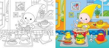 Petit gnome - cuisinier Image stock