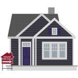 Petit Gray House For Sale Illustration illustration libre de droits