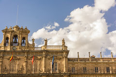 Petit groupe célèbre et historique de maire de plaza à Salamanque, Castille y Léon, Espagne Photo stock