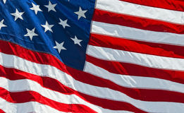 Petit groupe de bannière étoilée de drapeau américain des Etats-Unis Photographie stock
