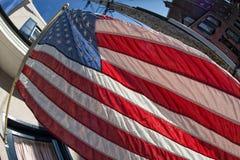 Petit groupe de bannière étoilée de drapeau américain des Etats-Unis Images libres de droits