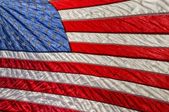 Petit groupe de bannière étoilée de drapeau américain des Etats-Unis Photographie stock libre de droits