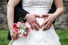 Petit groupe de jeunes mariés Photographie stock libre de droits