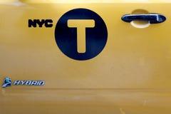 Petit groupe de New York City Taxy Images libres de droits