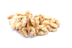 Petit groupe de noix sur un fond blanc Photo stock
