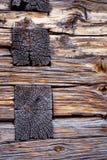 Petit groupe rustique d'architecture de cabine de log images libres de droits