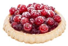 Petit gâteau de groseille rouge (d'isolement) Photo stock