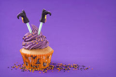 Petit gâteau de Halloween Photos stock