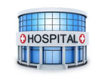 Petit hôpital de construction illustration stock