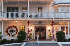 Petit hôtel de Noël Photographie stock libre de droits