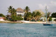 Petit harbou des Caraïbes de pêche Photographie stock libre de droits