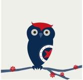 Petit hibou bleu Images stock