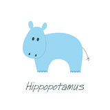 Petit hippopotame bleu Image libre de droits