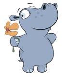 Petit hippopotame cartoon Image libre de droits
