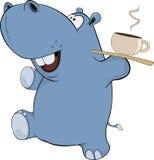 Petit hippopotame cartoon Photo stock