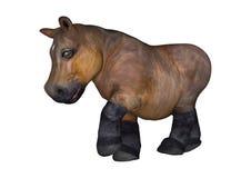 Petit hippopotame sur le blanc Image libre de droits