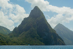 Petit i Gros morze w St Lucia i Pitons Obrazy Royalty Free