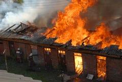 Petit incendie Photo stock
