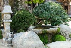 Petit jardin de style japonais Image libre de droits