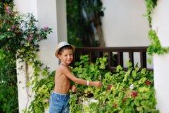 Petit jardinier Photos stock
