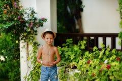Petit jardinier Photo stock