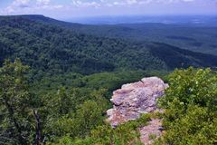 Petit Jean River Valley from Overlook at Mount Magazine, Arkansas`s Highest Point. Petit Jean River Valley from Overlook at Mount Magazine State Park, Paris Stock Photos