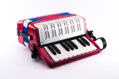 Petit jouet richement coloré d'accordéon photo stock