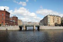 Petit-Kalinkin pont à St Petersburg, Russie image libre de droits