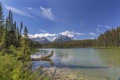 Petit lac en Jasper National Park - Alberta, Canada Photo stock