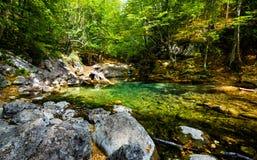Petit lac en montagne Photographie stock libre de droits