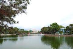 Petit lac en parc photo libre de droits