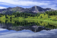 Petit lac Molas, San Juan Mountains, le Colorado images libres de droits