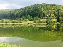Petit lac par esslingen près de tuttlingen image libre de droits