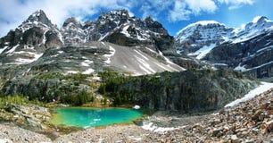 Petit lac vert dans la traînée d'Oesa de lac Photos stock