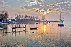 Petit lever de soleil de compartiment Photo libre de droits