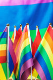 Petit lgbt de drapeaux sur le fond Photographie stock libre de droits