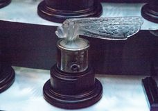 Petit Libellule small dragonfly hood ornament by Rene Lalique Stock Image