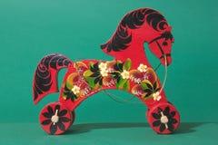 Petit métier russe : cheval en bois Photos stock