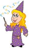 petit magicien de fille illustration libre de droits