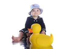 Petit marin heureux Girl Images stock