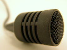 Petit microphone photographie stock