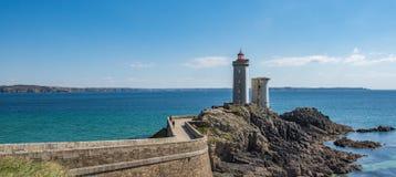 Petit Minou Lighthouse. Plougonvelin, Brittany, France Royalty Free Stock Images