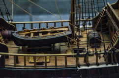 Petit modèle artistique de bateau Photos libres de droits