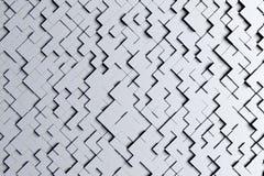 Petit modèle géométrique noir et blanc ou gris diagonal abstrait de conception de fond de tuiles du cube 3d Photos libres de droits