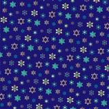Petit modèle juif de fond d'étoiles sur le bleu illustration libre de droits