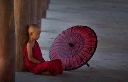 Petit moine bouddhiste Photographie stock libre de droits