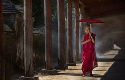 Petit moine bouddhiste Images libres de droits