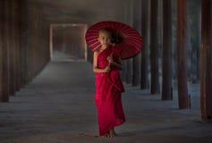 Petit moine bouddhiste Image libre de droits