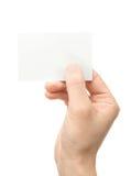 Petit morceau de main une carte Images libres de droits