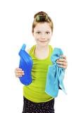 Petit nettoyage de femme au foyer Photo libre de droits